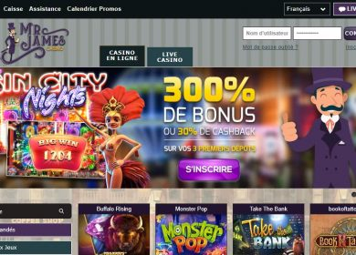 Test casino Mr James: our information on this platform